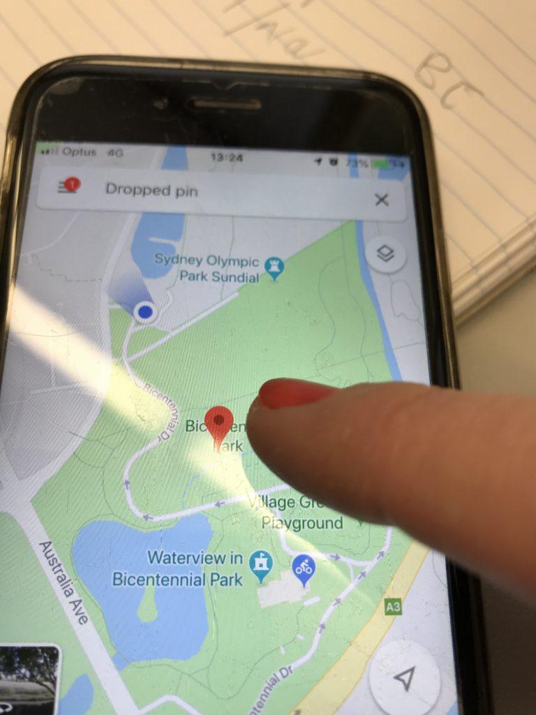 Drop a pin on Google map app