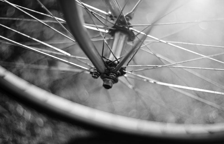 Bike fallen over on road