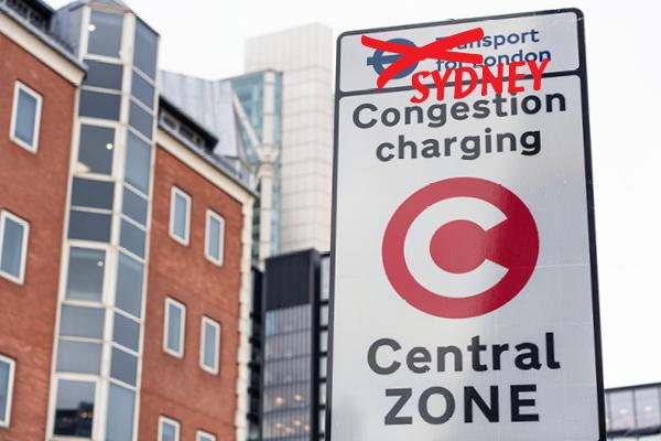 Sydney congestion charging sign