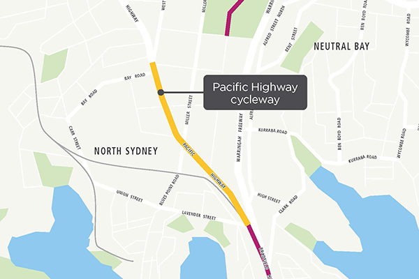 North Sydney pop-up cycleway