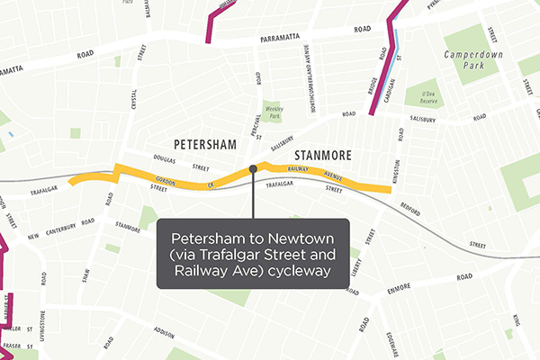 Petersham to Newtown pop-up cycleway