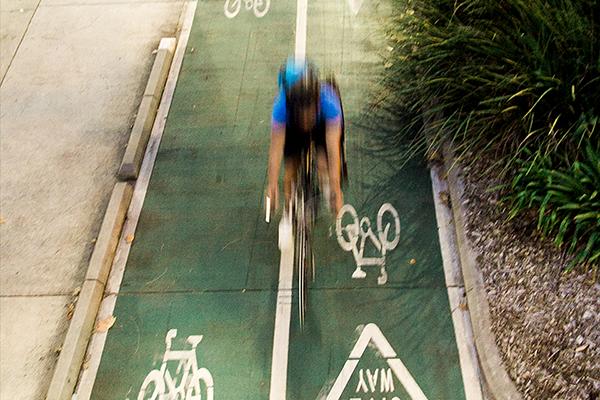 Dual bike lane