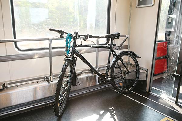 Bike on train
