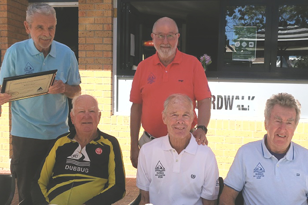 Five bike riders in their 80s