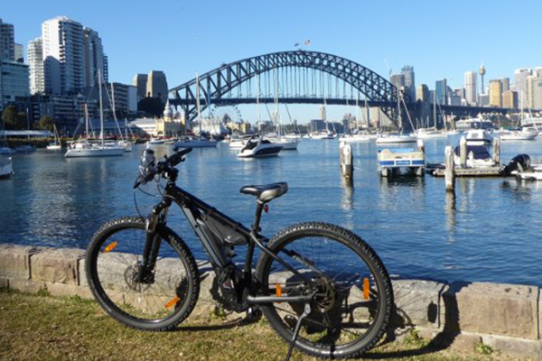 Bike with Sydney Harbour Bridge in the background