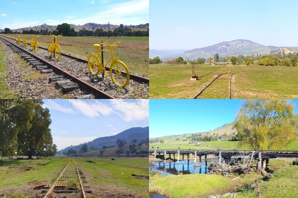 Photos of the Tumut to Batlow rail corridor