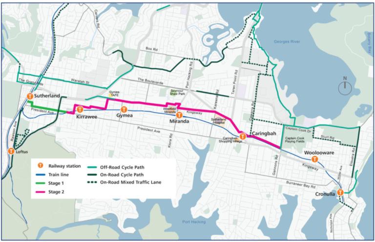 New unsafe design for Sutherland to Cronulla Active Transport Link
