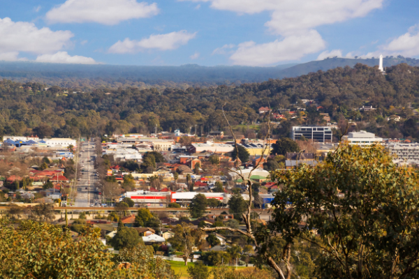 photo of Albury from height