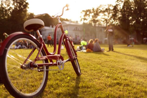 Child bike in park