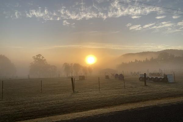 Sunrise in regional NSW
