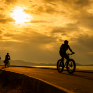 Cyclepath at Sunset