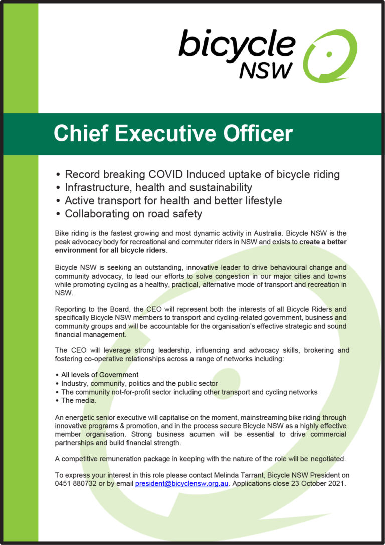 BNSW CEO Position advert